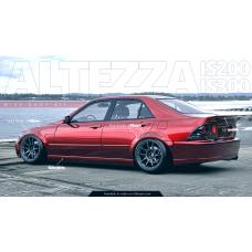 Aero Kit for Lexus IS200 IS300 Toyota Altezza 98-05 - Exclusive Design by KFD Team